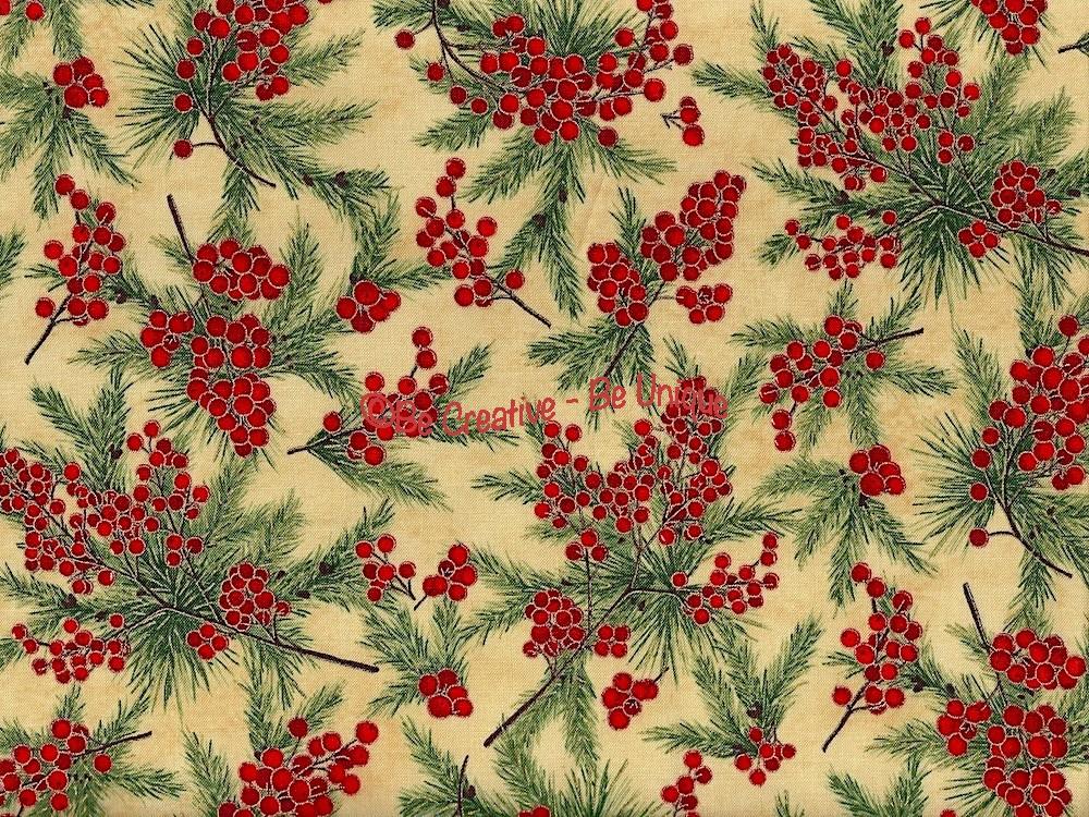Cotton by Hoffman - Winter Berries