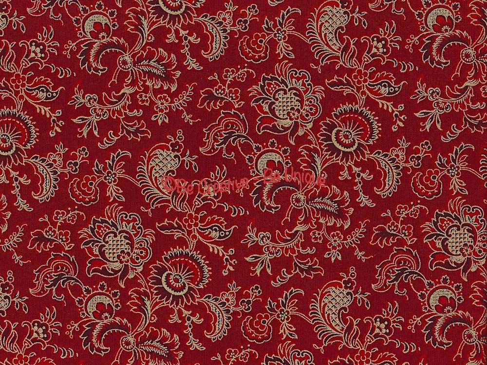 Cotton by Hoffman - Wine Jacobean