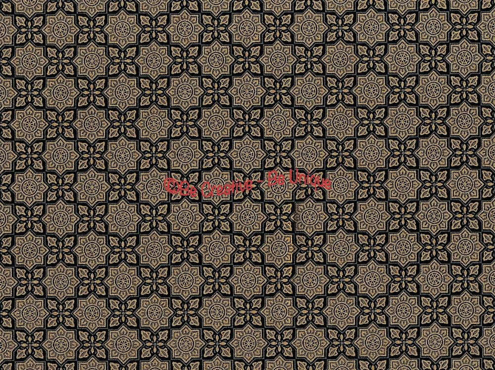 Cotton by Hoffman - Metallic Arabesque