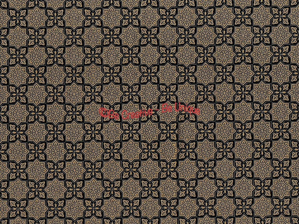 Fat Quarter - Cotton by Hoffman - Metallic Arabesque