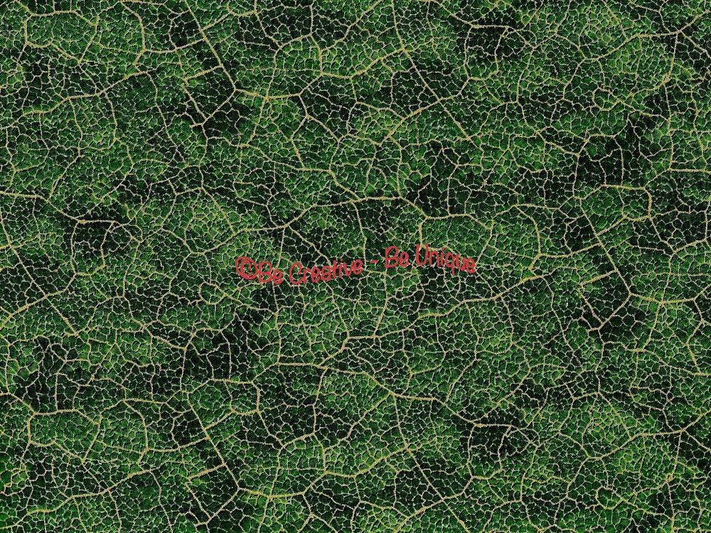 Cotton by Hoffman - Gold Metallic Leaf Vein