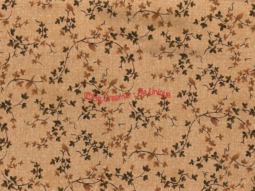 Cotton by Stof - Misty Branches and Birds - Beige