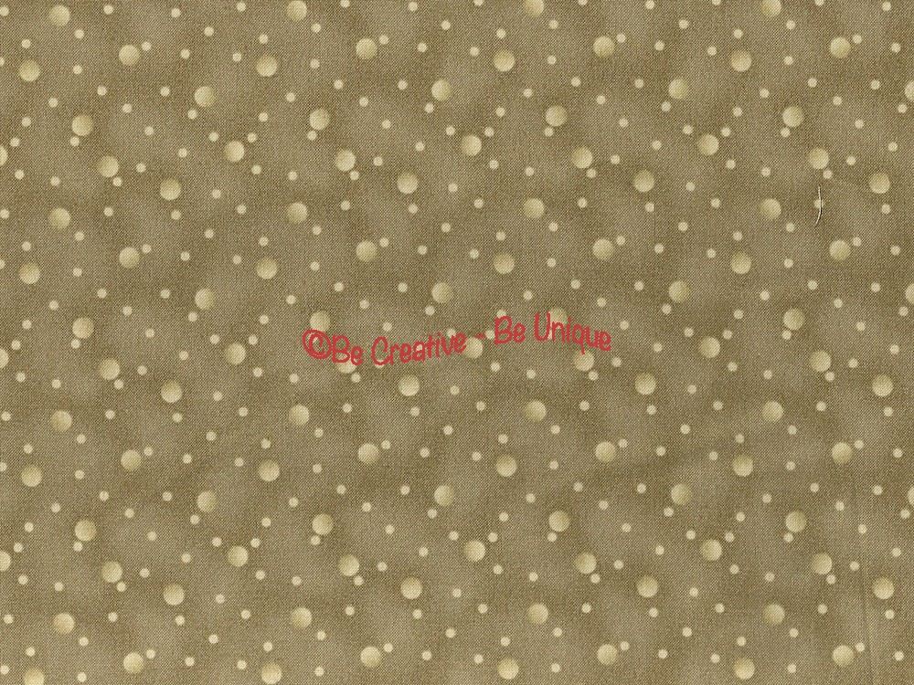 Cotton by Stof - Cream Dots on Taupe