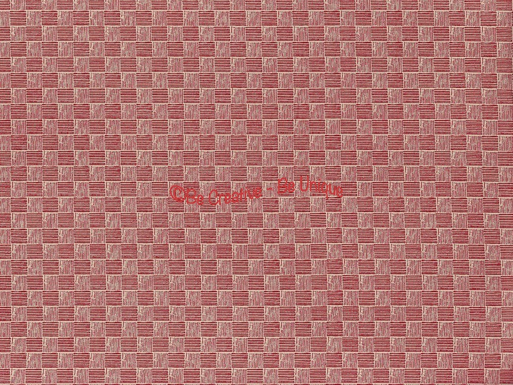 Fat Quarter - Cotton by Stof - Quilters Basic - Red and White Squares