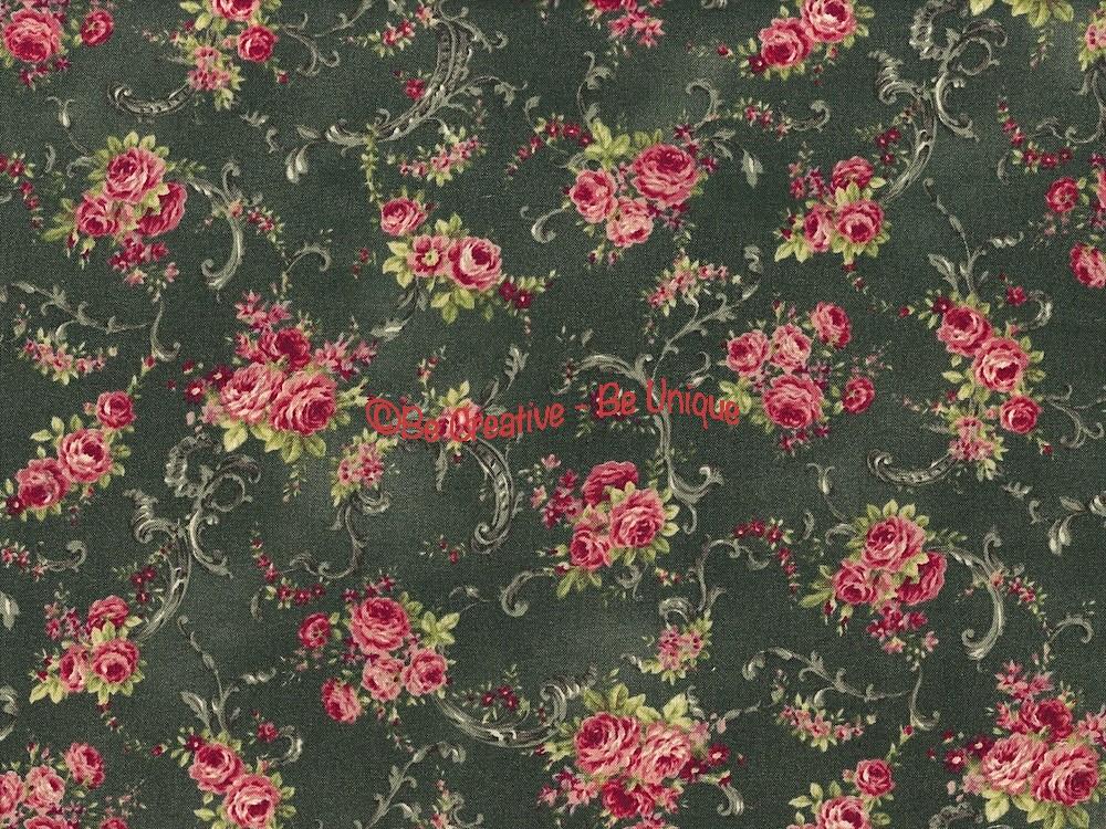 Fat Quarter - Cotton by Quilt Gate - Roses Bouquets