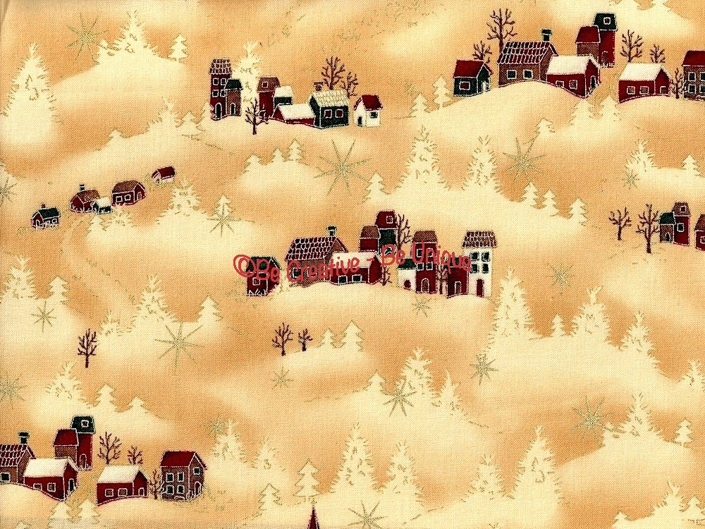 Fat Quarter - Cotton by Stof - Winter Houses