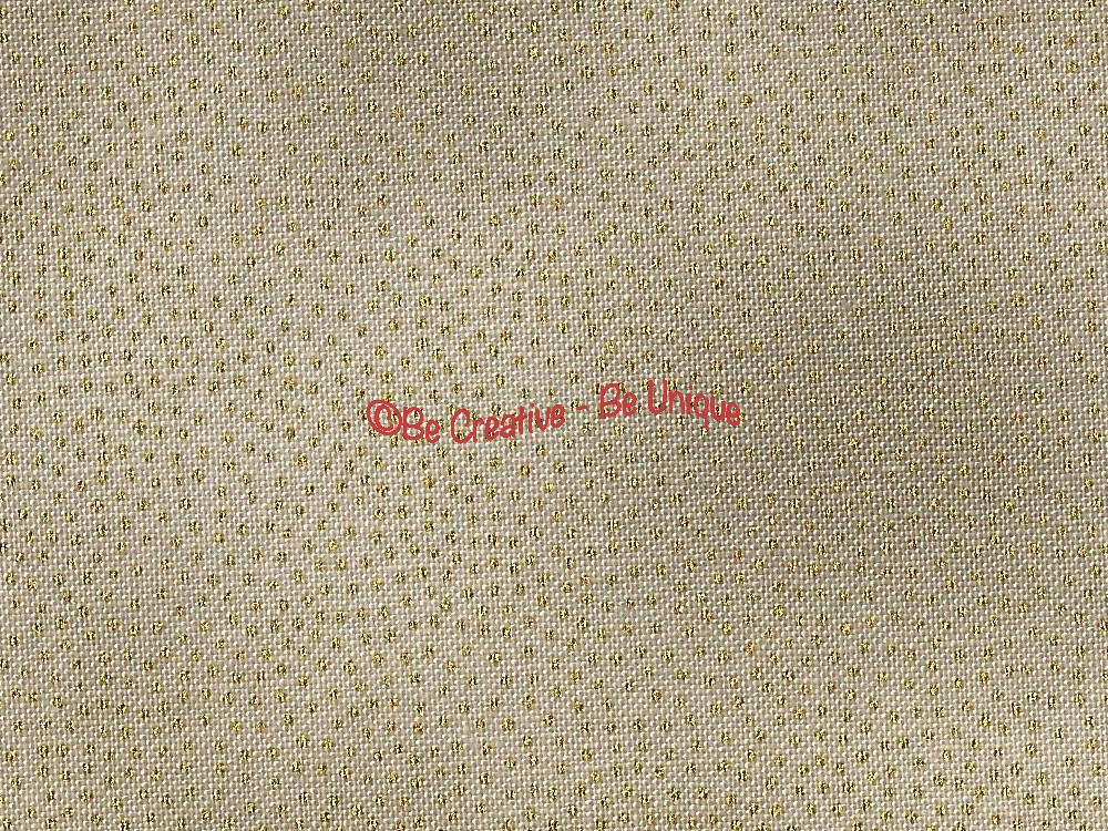 Fat Quarter - Cotton by Stof - Gold Dots on Taupe