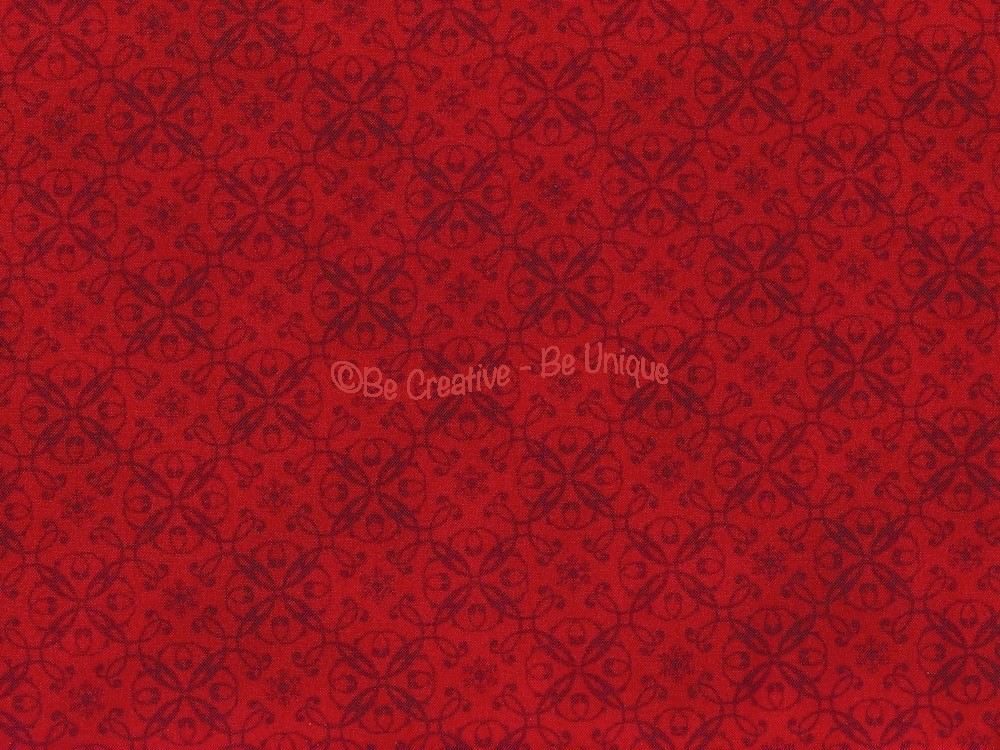 Fat Quarter - Cotton by Henry Glass - Red Damask