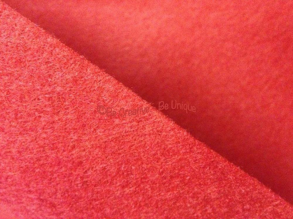 Wool Mix Felt - Red