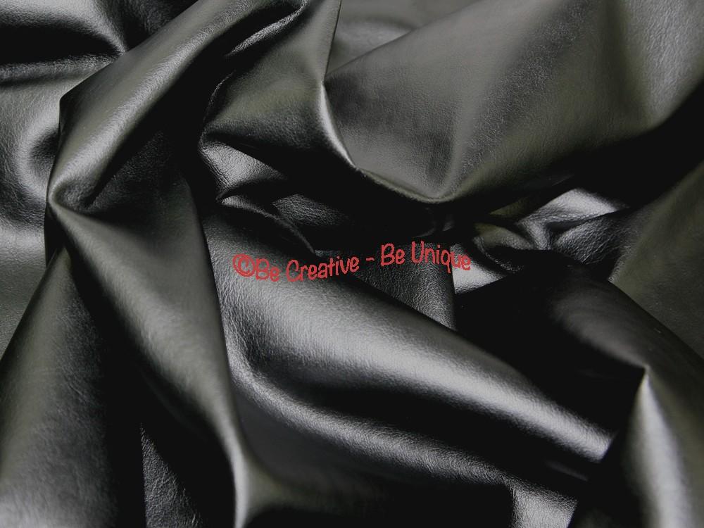 Soft PVC Leathercloth Faux Leather Fabric - Black
