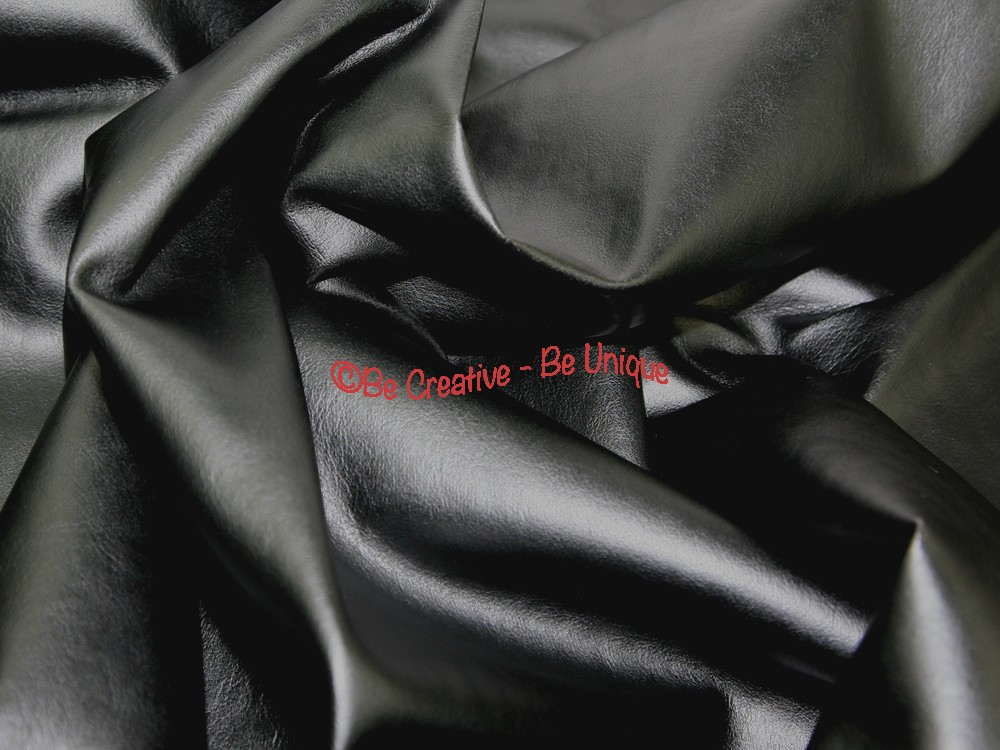Stretch PU Leathercloth Faux Leather Fabric - Black