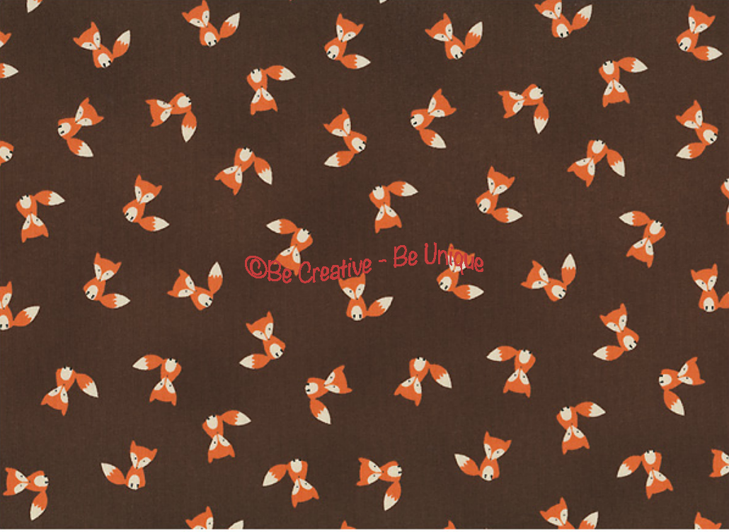 Fat Quarter - Cotton by Stof - Foxes - Brown