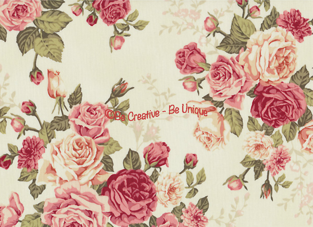Cotton by Stof - Large Roses - Rosie's Garden - Ivory