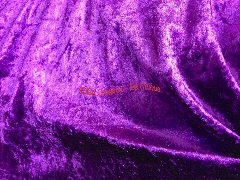 Crushed Velour Velvet Dress Fabric - Purple