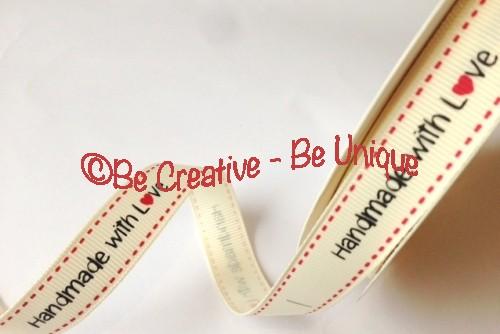 Handmade with Love - Ribbon Label