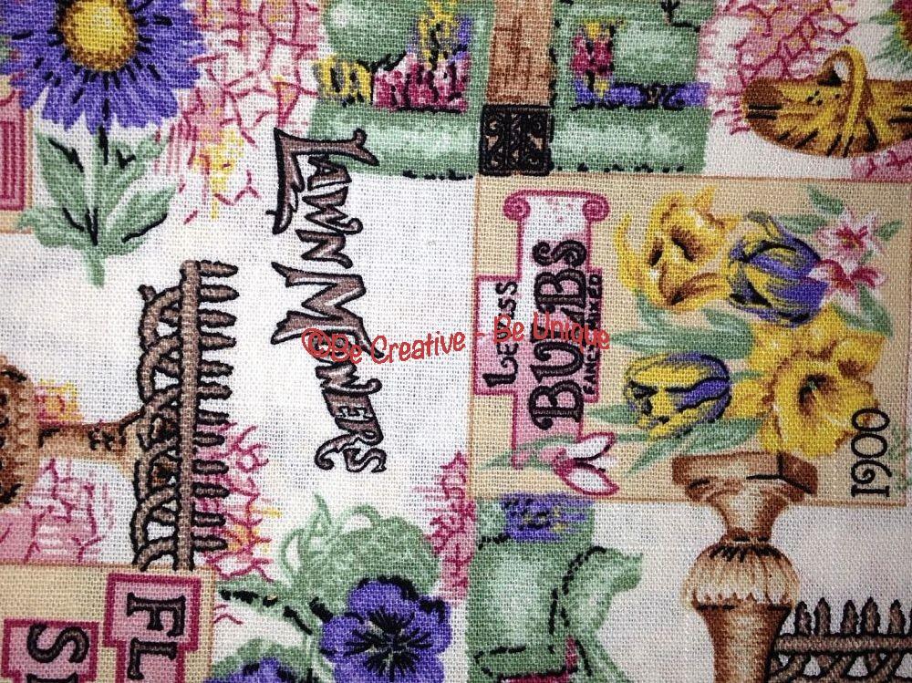 Cotton Canvas - Vintage Garden - Pink