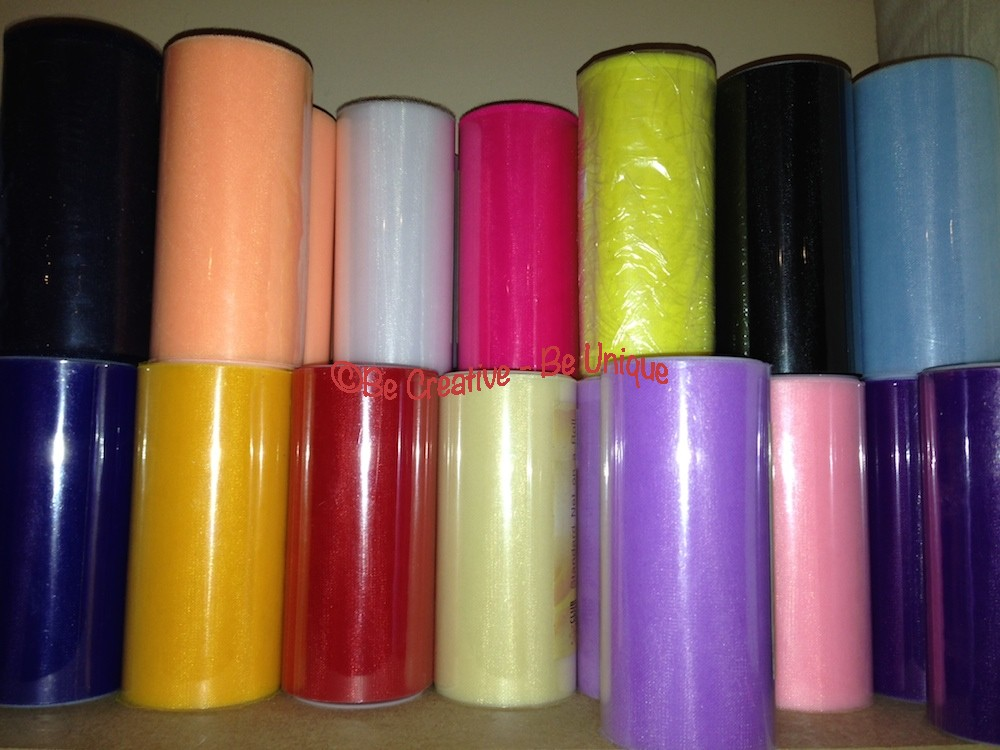 "Tulle Roll - Standard Net on Roll 6"" - 25m"