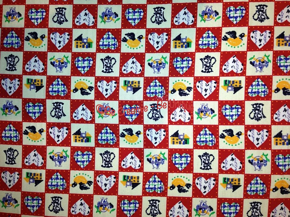 Cotton Poplin - Sweet Home Patchwork - Red