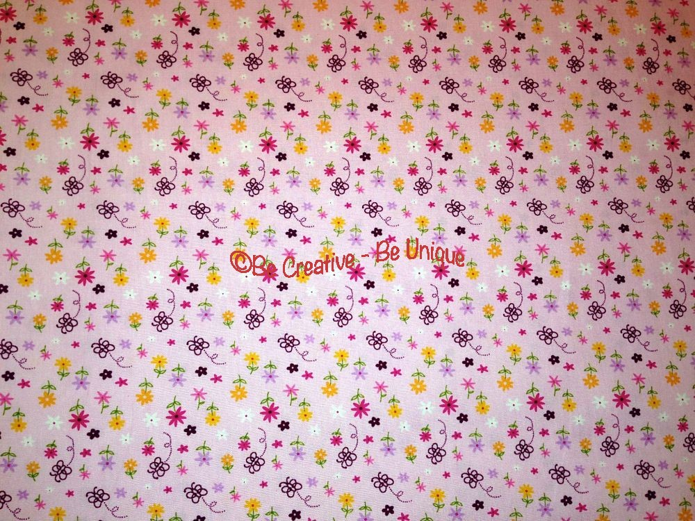 Cotton Poplin - Flowers & Butterflies - Pink