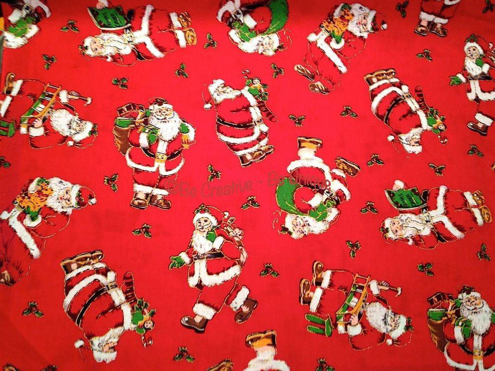 Cotton - Santa - Red