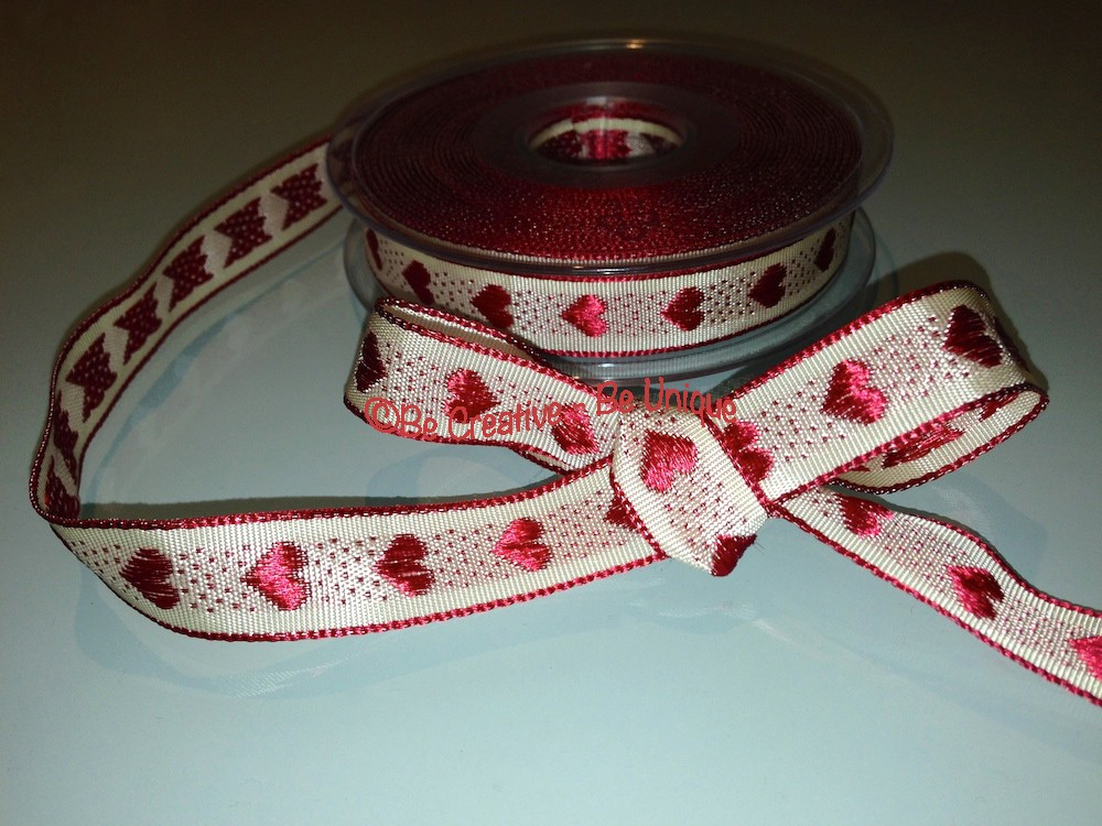 Rustic Heart Ribbon - Red