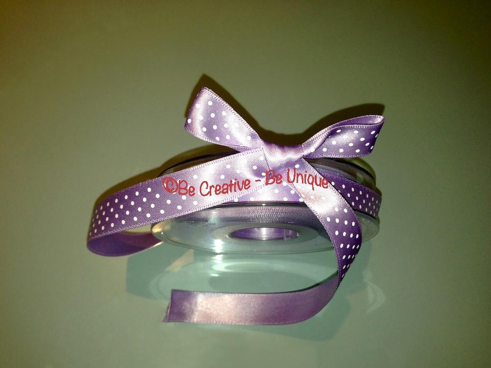Micro Dot Satin Ribbon - Orchid/White