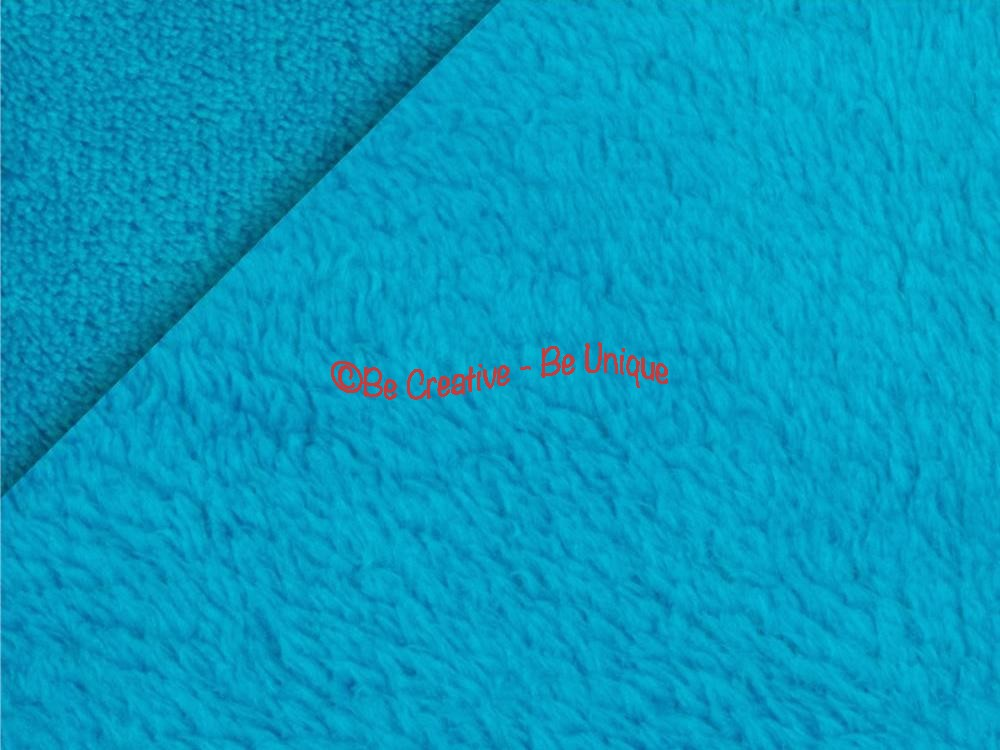 Minky Cuddle Double Sided Supersoft Fleece - Turquoise