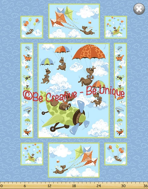 Cotton by Susybee - Zig, Flying Ace Panel