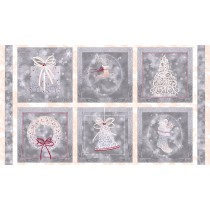 Cotton by Quilting Treasures - Holiday Elegance Squares Panel