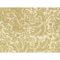 Cotton by Hoffman Fabrics - Gold Metallic Flowers