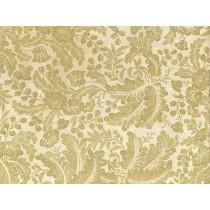 Fat Quarter - Cotton by Hoffman Fabrics - Gold Metallic Flowers