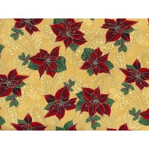 Cotton by Hoffman Fabrics - Poinsettia
