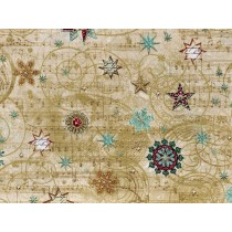 Cotton by Hoffman Fabrics - Music and Snowflakes