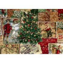 Fat Quarter - Cotton by Hoffman Fabrics - Postcard Patchwork