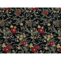 Fat Quarter - Cotton by Hoffman - Metallic Christmas Floral