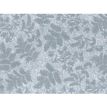 Fat Quarter - Cotton by Hoffman - Silver Metallic Christmas Thistle