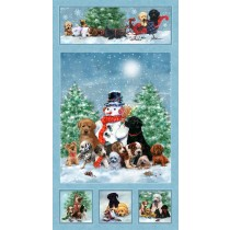 Cotton by SPX Fabrics - Holiday Pups Panel