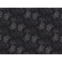 Fat Quarter - Cotton by Stof - Abstract Pattern - Black
