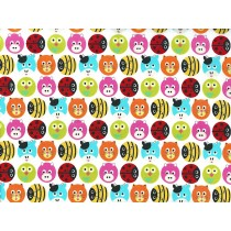 Fat Quarter - Cotton by Stof - Animal Circles