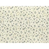 Fat Quarter - Cotton by Stof - Musical Notes - Ivory