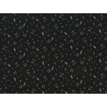 Fat Quarter - Cotton by Stof - Musical Notes - Black