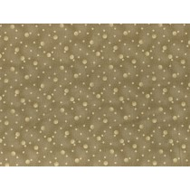 Fat Quarter - Cotton by Stof - Cream Dots on Taupe