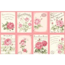 Cotton by Quilt Gate - Pink Postcards Panel