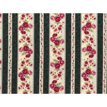 Cotton by Quilt Gate - Roses Border Stripe