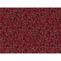 Cotton by Stof - Flowers and Twirls - Red