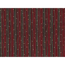 Fat Quarter - Cotton by Stof - Raphael - Red and Green Stripes & Stars