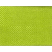 Cotton by Henry Glass - Mustard Green Polka Dots