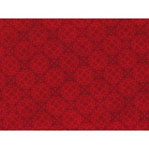 Cotton by Henry Glass - Red Damask