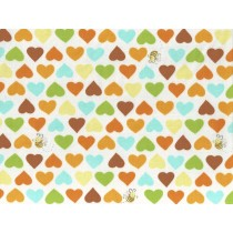 Fat Quarter - Cotton by Susybee - Hearts & Bees