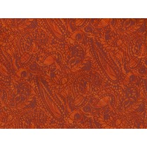 Cotton by Hoffman - Tangerine Paisley